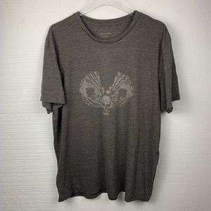 Lucky Brand Gray Sky Card Graphic Short Sleeve Tee